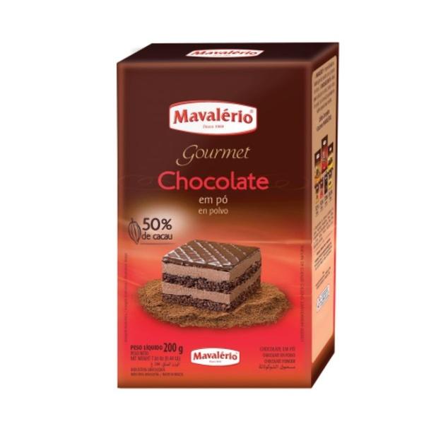 Chocolate em pó 50% Cacau 200g Mavalério