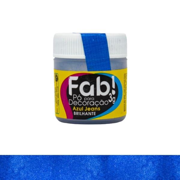 Pó para Decoração Azul Jeans Fab 3g loja sabrina