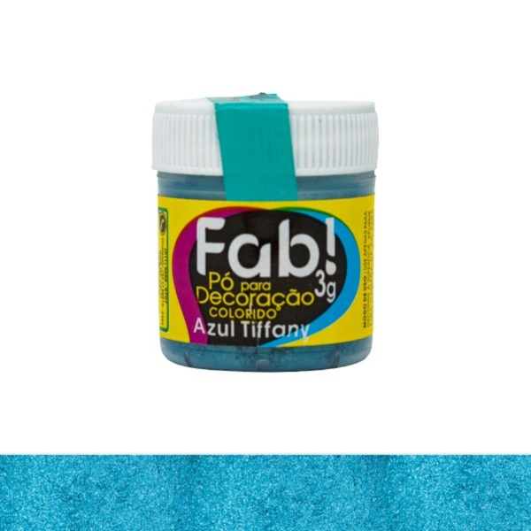 Pó para Decoração azul Tiffany Fab 3g loja sabrina