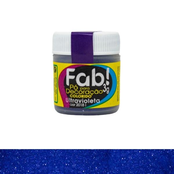 Pó para Decoração Ultravioleta Fab 3g loja sabrina