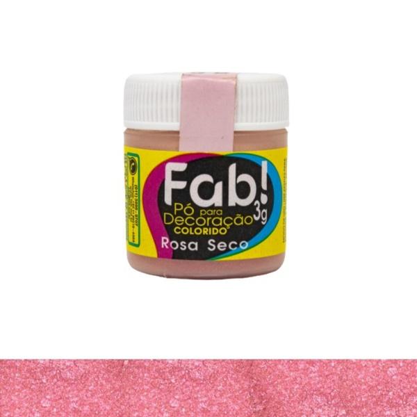 Pó para Decoração Rosa Seco Fab 3g loja sabrina