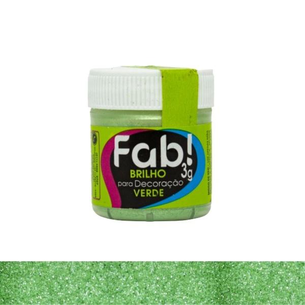 Brilho para Decoração Verde Fab 3g