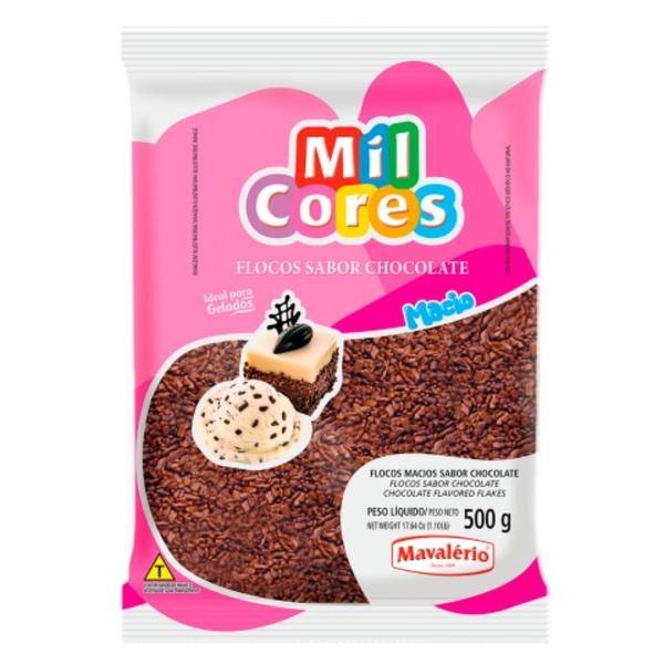 Granulado 500g Flocos Chocolate Macio Mavalério