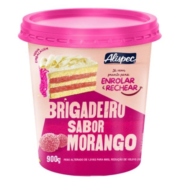 Brigadeiro Sabor Morango Alispec 950g Pronto para Enrolar e Rechear