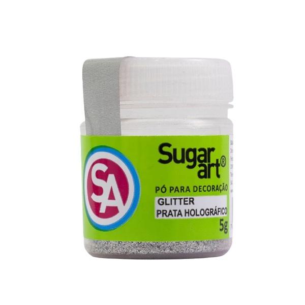 Glitter Prata Holográfico 3D 5s Sugar Art