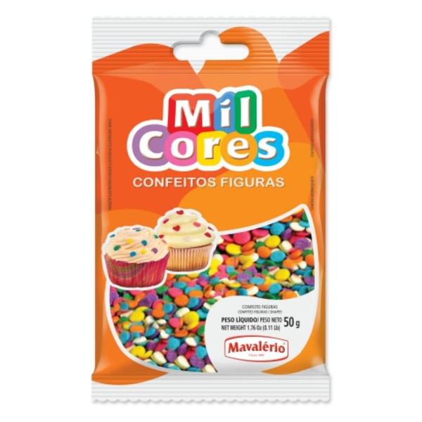 Confeito 50g Confete Mavalério