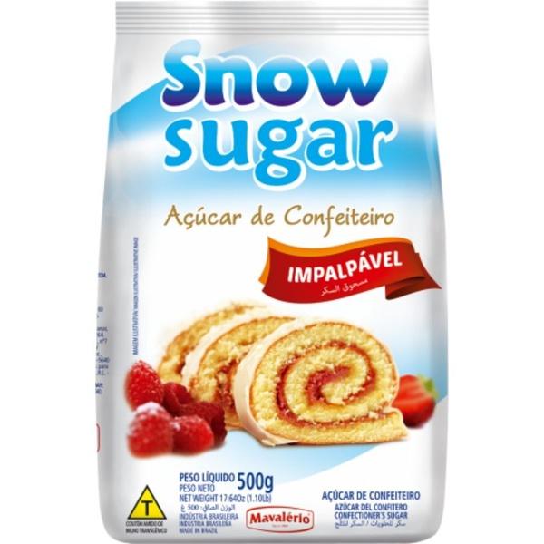 Snow Sugar- Açúcar de Confeiteiro 500g Mavalério