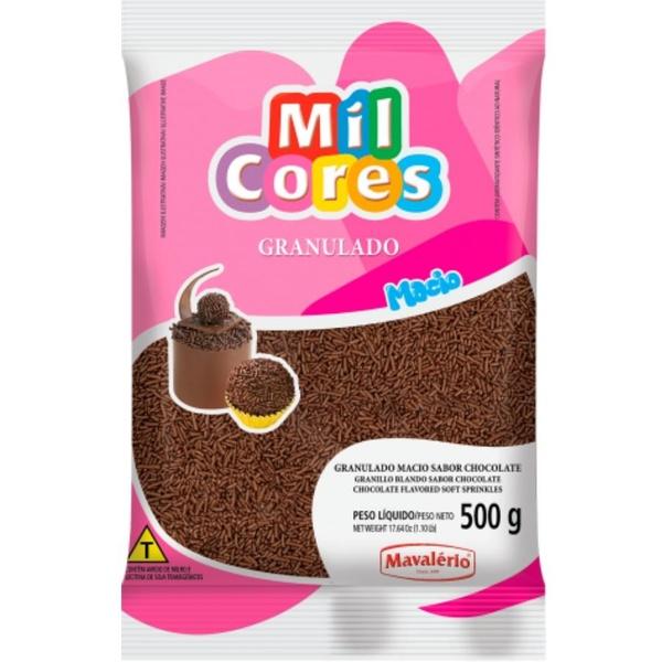 Granulado Macio Chocolate 500g Mavalério