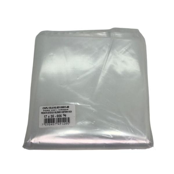 Saco Plástico PE 17X35cm Transparente 1kg-006 loja embalagens sabrina