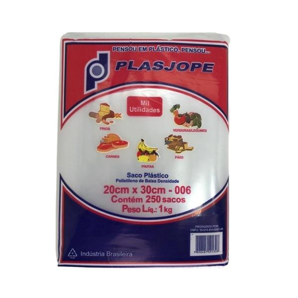 Saco Plástico PE 20X30cm Transparente 1kg-006 loja embalagens sabrina