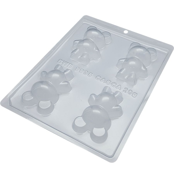 Urso Pequeno BWB CÓD:9935 Forma De Chocolate Acetato com Silicone Especial (3 Partes)