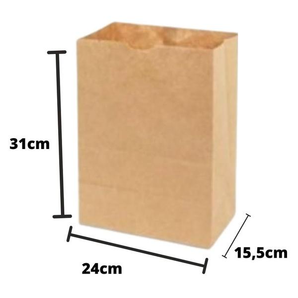 Saco SOS G Liso c/50und 24x31x15,5cm 80gm² Pluma loja embalagens sabrina