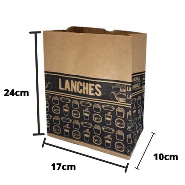Saco SOS P Estampa Preta c/50und 17x10x24cm 80gm² Pluma loja embalagens sabrina