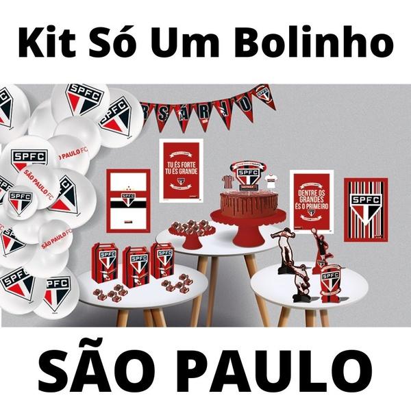 Kit Só Um Bolinho São Paulo 89 peças Festcolor loja embalagens sabrina