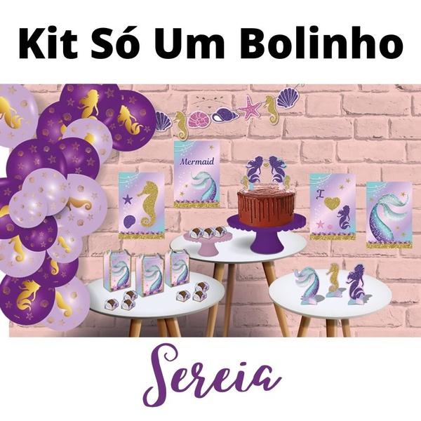 Kit Só Um Bolinho Sereia 89 peças Festcolor loja embalagens sabrina