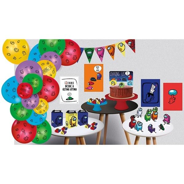Kit Só Um Bolinho Among Us 89 peças Festcolor loja embalagens sabrina