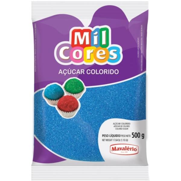 Açúcar Colorido Azul 500g Mavalério