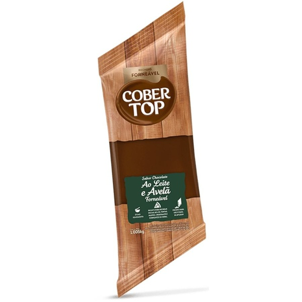 Recheio Forneável Chocolate ao Leite com Avelã Cobertop 1,005kg loja embalagens sabrina