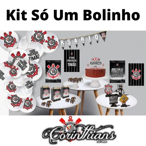 Kit Só Um Bolinho Corinthians 89 peças Festcolor