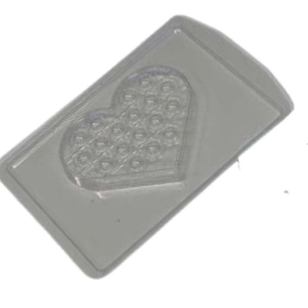 Choco Pop It Coração Crystal Forming Cód:198 Forma De Chocolate Acetato com Silicone Especial (3 Partes)