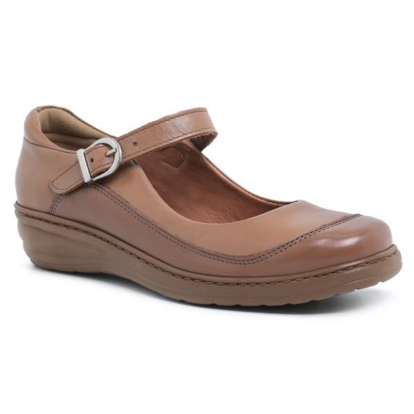Sapato Feminino Super Leve Sapatoterapia Conhaque