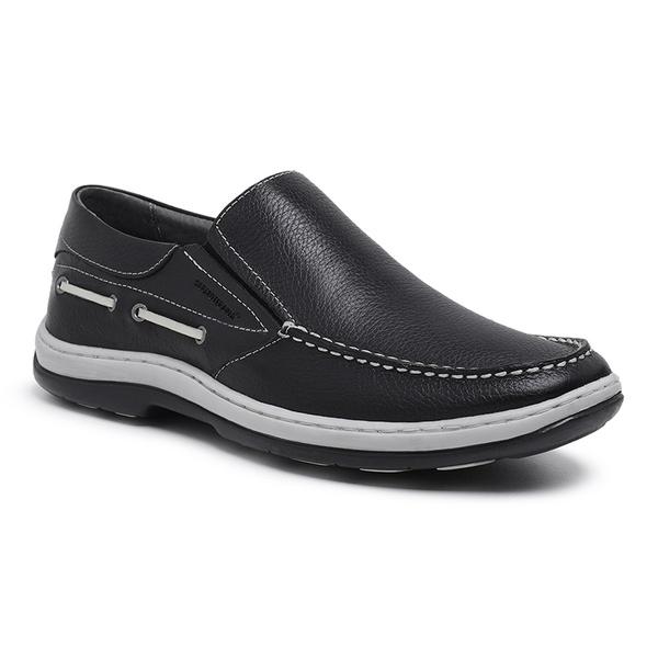 Sapato Mocassim masculino Sapatoterapia Preto/Branco Capri