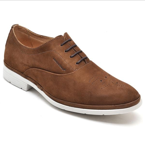 Sapato Oxford Sapatoterapia Nobuck Amêndoa