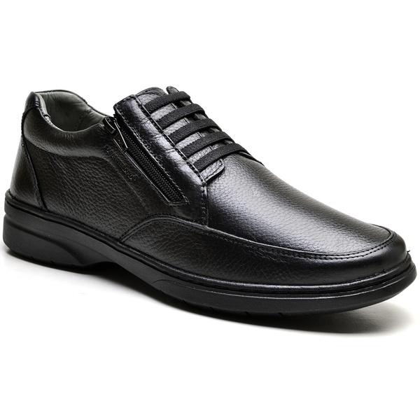 Sapato com Zíper e Elástico Sapatoterapia Preto Virtus