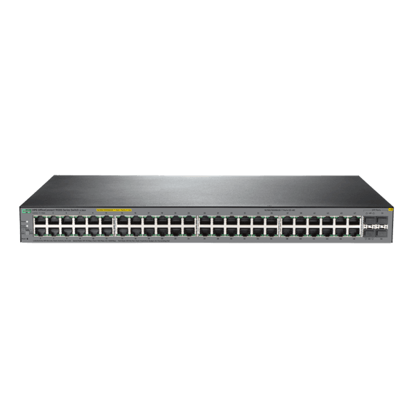 Switch 48 portas 10/100/1000 + 4p sfp hpe officeconnect 1920s 48g 4sfp ppoe+ 370w