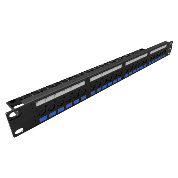 Patch panel multilan cat.5e - 24 portas t568a/b
