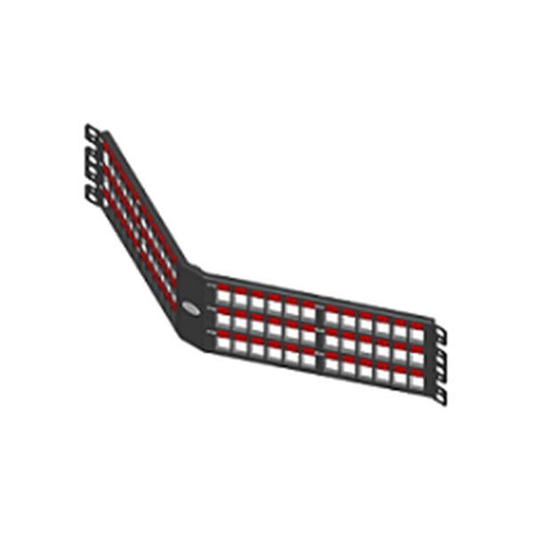 Patch panel descarregado 72p angular 2u blindado