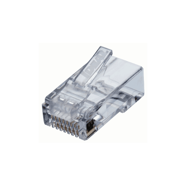 Pacote com 50 conectores rj-45 feed-thru (cat.5e)