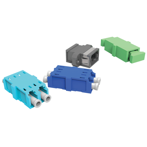 Kit de adaptadores opticos 02f sm lc-pc duplex - azul (kit 01 pc)