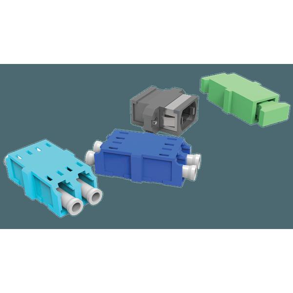 Kit de adaptadores opticos 01f sm sc-pc - azul (kit 06 pcs)