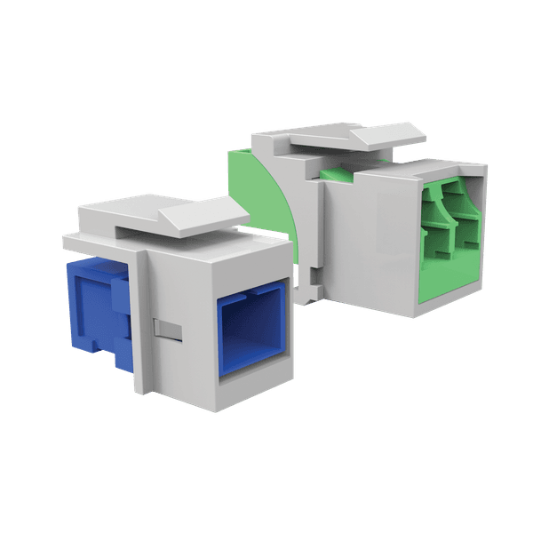 Conjunto adaptador lc duplex mm