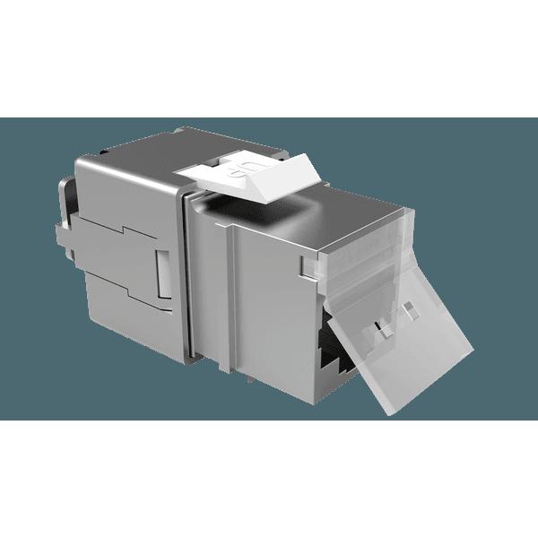 Conector femea blindado multilan cat.5e t568a/b