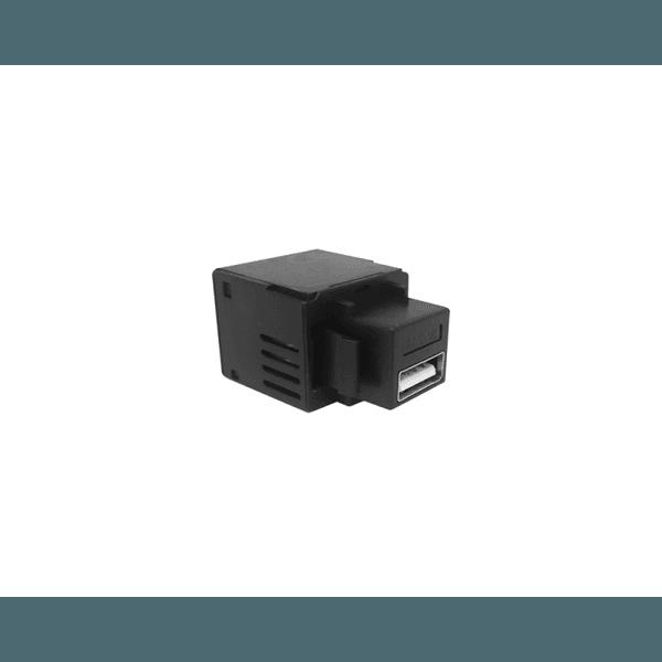 CONECTOR USB CHARGER 5V 2.1A KEYSTONE - PRETO