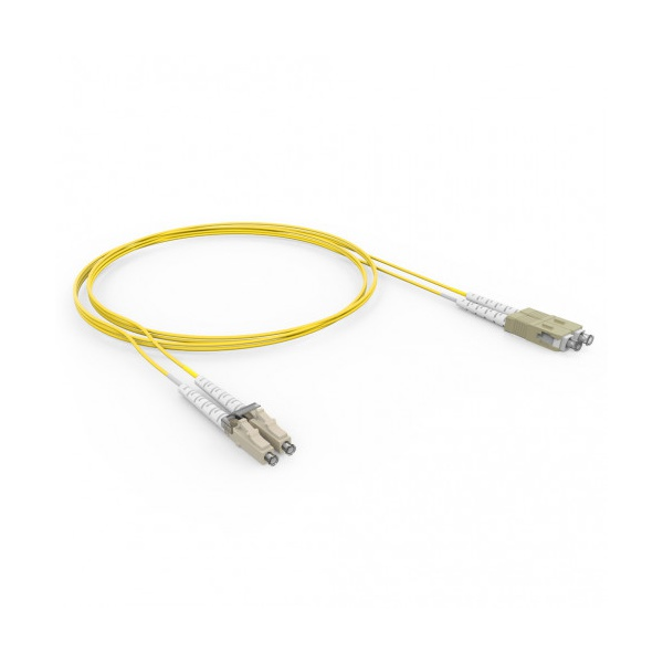 CORDAO DUPLEX CONECT. 50.0 LC-UPC/LC-UPC 5.0M - COG - AM (A-B)