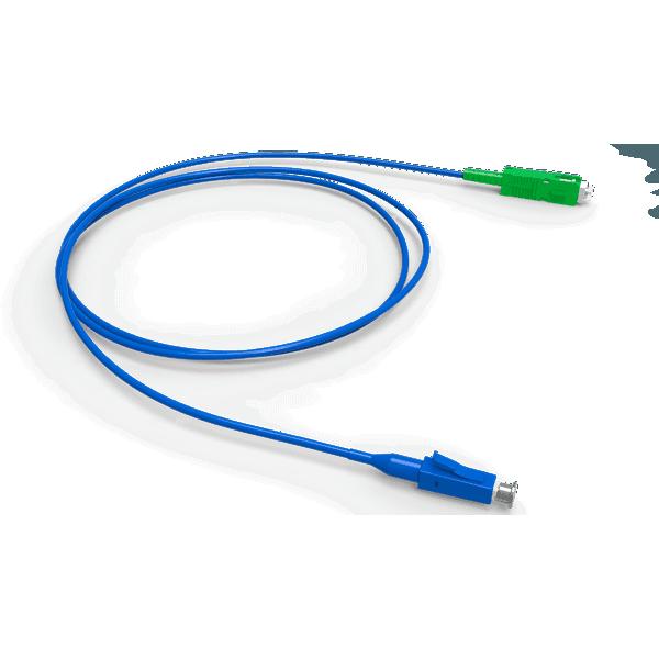 CORDAO MONOFIBRA CONECTORIZADO SM LC-APC/LC-UPC 10.0M COG AZ