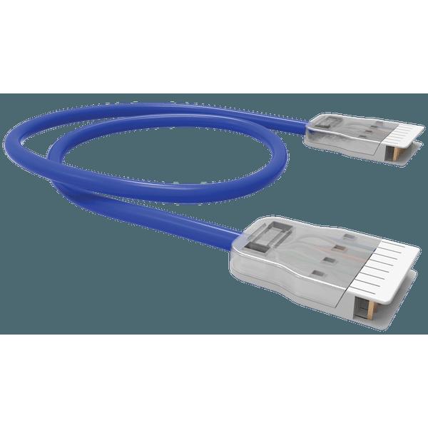 PATCH CORD 2P (VOZ) FISAFLEX - CM - RJ-45/RJ-45 - 3.0M - AZUL