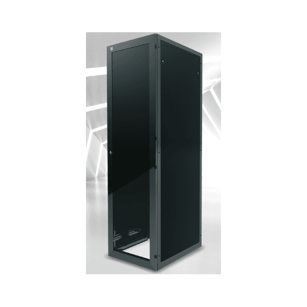 VERSAFLEX RACK DE PISO C/ PORTA ACRILICO 24US 600MM PRETO