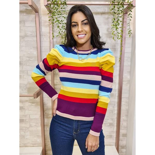 Blusa em tricot Bia - Arco Íris