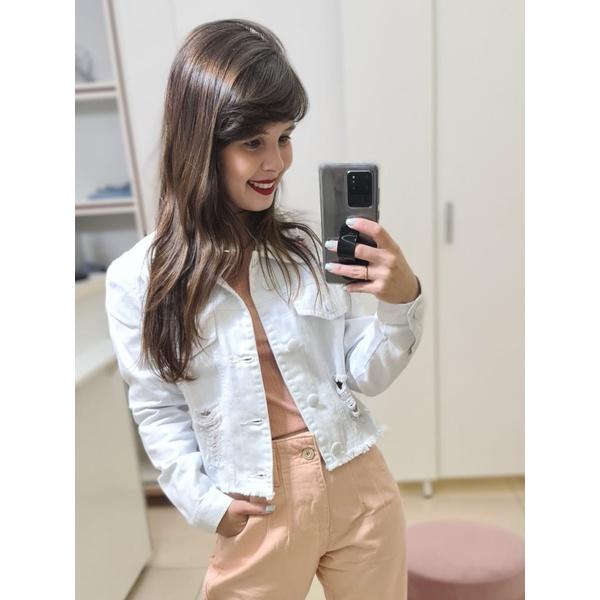 Jaqueta Jeans Cropped - Branca