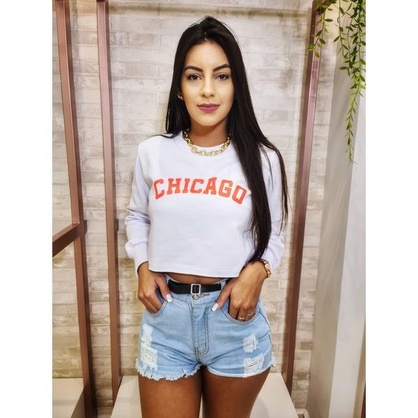 Blusa Moletinho - Chicago Branca