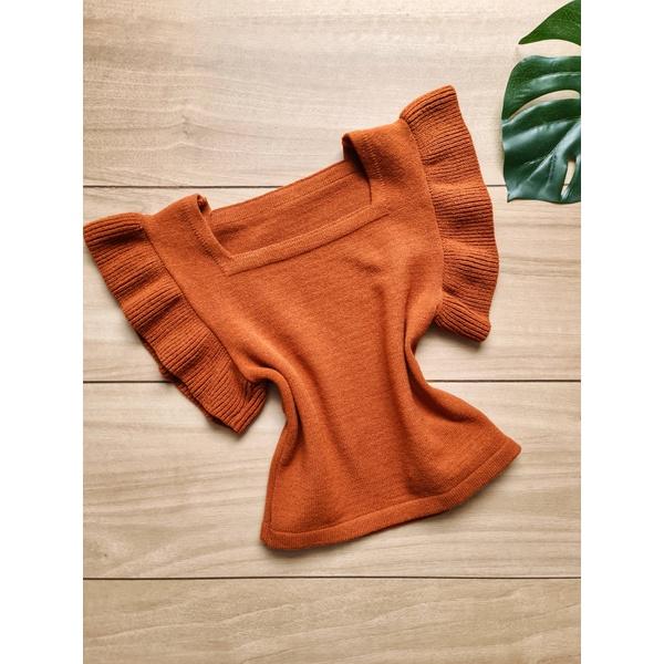 Blusa em tricot Marília - Telha