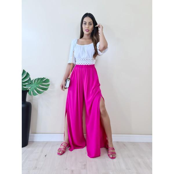 Calça Pantalona Tais - Pink