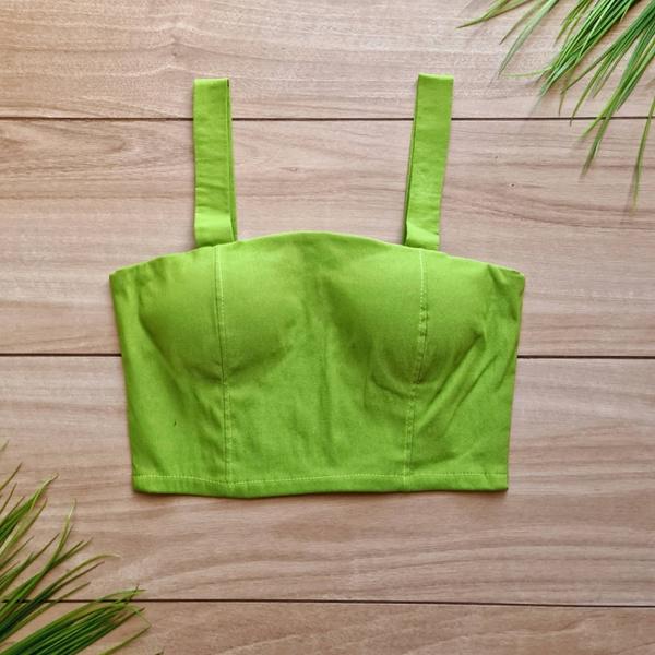 Cropped Gabriele Alça Larga - Verde Abacate