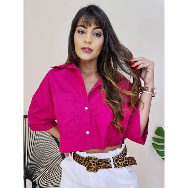 Cropped Camisa Fiorella - Pink