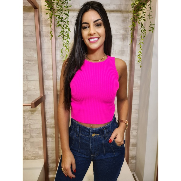 Cropped Maria - Rosa Neon