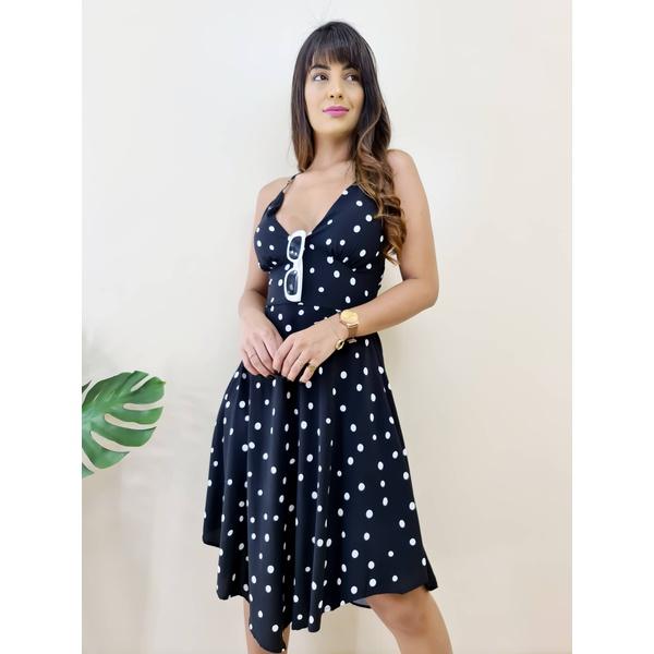 Vestido Eduarda - Poá